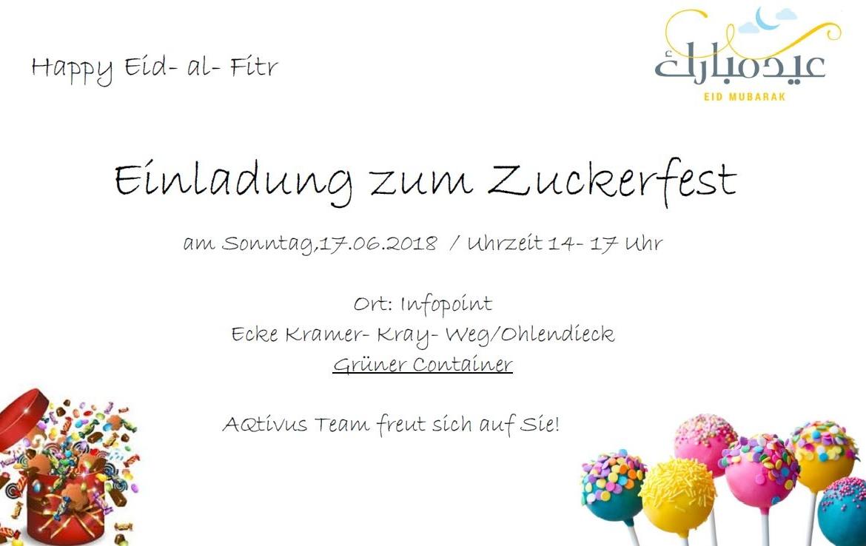 Zuckerfest in der UPW Poppenbüttel